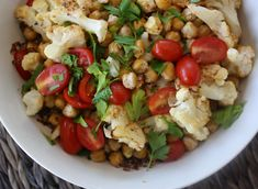 Crunchy Chickpea and Roasted Cauliflower Quinoa Salad