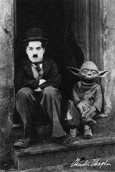 Charlie Chaplin And Yoda