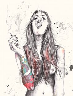 esra roise on behance ( like even though its been 10 yrs since I smoked!)