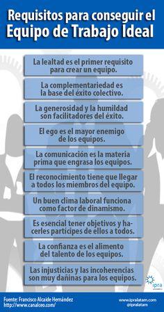Requisitos para conseguir el equipo de trabajo ideal.