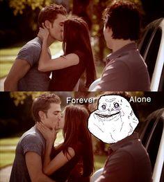 Poor Damon. The Vampire Diaries