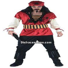 Tu mejor disfraz pirata rojo adulto,te hará sentir como un auténtico