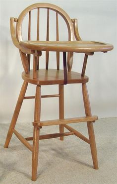 Amish Furniture Bow High Chair 14642