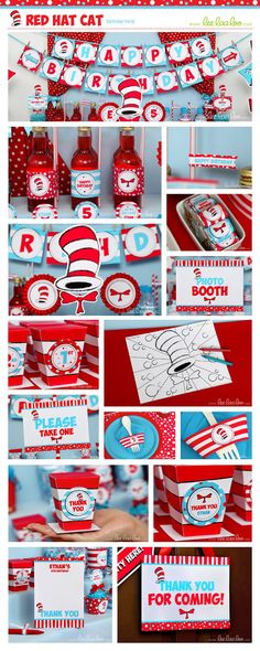 Dr Seuss Birthday Party Package Love dr Seuss!