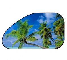 Sonnenschutz Seitenfenster selbsthaftend 65 x 38 cm - Motiv Strand Strand, Solar Shades, Windows, Colour