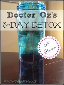 Dr. Oz 3 day detox review