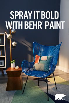 Just because you put it in a corner doesn't mean it can't pop. Give any piece a fresh look with BEHR® Spray Paint.