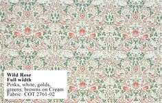 Historic Style - Wild Rose by William Morris, fabric