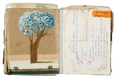 Art Journal/Oliver Jeffers Note the use of handwritten memorabilia Art Journal Pages, Artist Journal, Artist Sketchbook, Art Journals, Oliver Jeffers, Kunstjournal Inspiration, Sketchbook Inspiration, Illustrations, Illustration Art