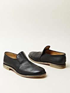 MAISON MARTIN MARGIELA 22 MEN'S SLIP ON LEATHER SHOES