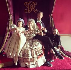 Princess Vicky, Prince Arthur(?), Duchess Sophie, Lord Pam and Prince Bertie—BTS. Victoria S3.