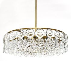 1970s Sciolari Style Glass Brass Chandelier | From a unique collection of antique and modern chandeliers and pendants  at https://www.1stdibs.com/furniture/lighting/chandeliers-pendant-lights/