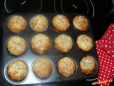 ***VÝBORNÉ TVAROHOVÉ MUFFINY*** Czech Recipes, Food And Drink, Cupcakes, Breakfast, Sweet, Fit, Breakfast Cafe, Cupcake, Muffin