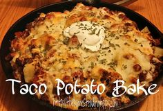 Eat peasy dinner that will make everyone happy!  Taco Potato bake