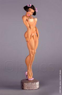 """Kiko"" (nude version) Original resin model kit by Mike James 1/8th scale, $85 (inside USA) Plastic Model Kits, Plastic Models, Biscuit, Monster Toys, Figure Model, Scale Model, Pin Up Models, Fantasy Miniatures, Pin Up Art"