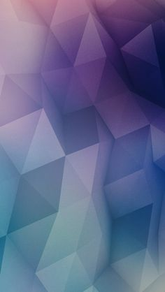 Low Poly Cool Colors iPhone Wallpaper