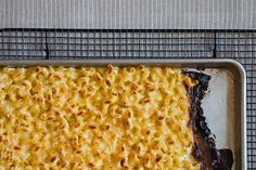 Baking Sheet Macaroni and Cheese by food52 who recommends fighting for the corner because it's worth it : ) #Macaroni_Cheese #food52