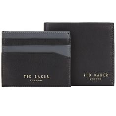 For the other half: Ted Baker leather wallet and card holder gift set.