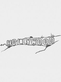 Hollywood Sign Minimalista - On The Wall | Crie seu quadro com essa imagem https://www.onthewall.com.br/design-by-on-the-wall/minimalista/hollywood-sign-minimalista #quadro #canvas #moldura #decor #hollywood #eua #losangeles #minimalista