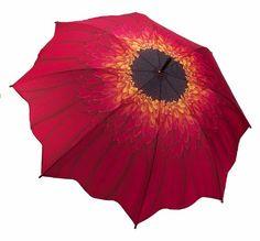 """"""" Red Daisy """" - Galleria Folding Compact Umbrella - Auto Open/ Auto Close Galleria - Fashion Umbrellas,http://www.amazon.com/dp/B004Q1SEZW/ref=cm_sw_r_pi_dp_29bbsb0BHCW5TM72"""