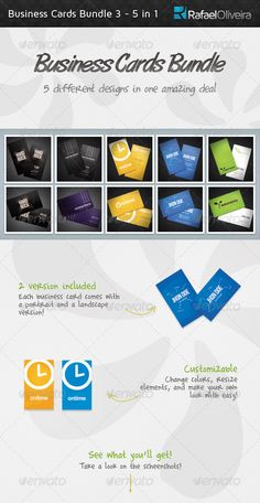 Business Cards Bundle 3 - 5 in 1