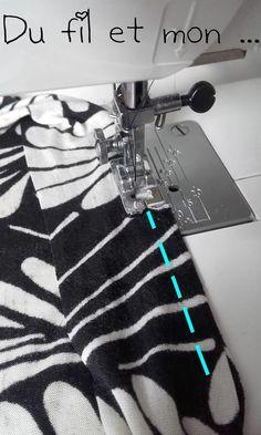 Pas trop compliqué, donc j'ai enchaîné pour le Girl Power Band ! Il y a peut être d'autres tutos qui existent mais voici ce q... String Bag, Use Of Plastic, Couture Sewing, Knitted Bags, Pinterest Blog, Bag Making, Improve Yourself, Tee Shirts, Diy