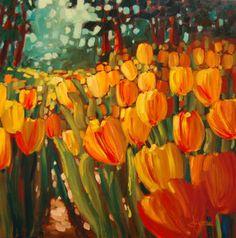 tulips Olympic flames lynn garceau koyman galleries sold