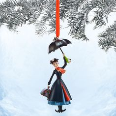 MARY POPPINS 50TH ANNIVERSARY DISNEY STORE 2014 SKETCHBOOK CHRISTMAS ORNAMENT  #DisneySTORE