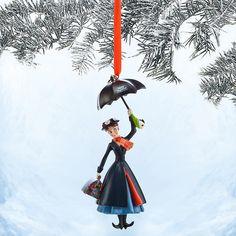 MARY POPPINS 50TH ANNIVERSARY DISNEY STORE 2014 SKETCHBOOK CHRISTMAS ORNAMENT  #DisneySTORE