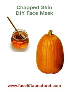 Chapped Skin DIY Facial Mask recipe  When the seasons change, so does your skin! That's what is so great about this recipe (it's also super easy)! The main ingredient (Pumpkin!) is easily available when the weather starts to get chilly. The change in temperature and cold, windy days can cause skin to chap or dry out quickly. #facial #mask #pumpkin
