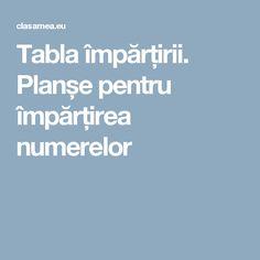 Tabla împărțirii. Planșe pentru împărțirea numerelor