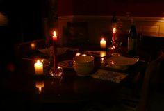 Candelit dinner ...
