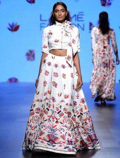 9bd4d52c1e7 Crop Top Lehenga - Love for stripes printed crop top | Swati Vijaivargie