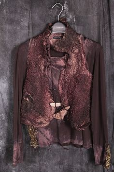 Aproximat by Tatiana Palnitska - Art to Wear Originals - silk, hand-painted and distressed