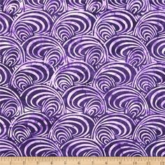 Bali Batiks Handpaint Mod Swirl Grape from @fabricdotcom Designed for Hoffman International Fabrics, this Indonesian batik is perfect for quilting, craft projects, apparel and home décor accents. Colors include shades of grape.