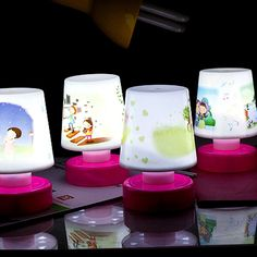 Light Up Toy Cartoon Pat Design LED Mini Table Lamp Night Light Lamps Luminous Toy Decorative Light Up Toy Gift for Kids Bedroom