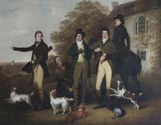 BBC - Your Paintings - A Shooting Party of Captain William Lukin (1768–1833), and His Brothers at Felbrigg Parsonage