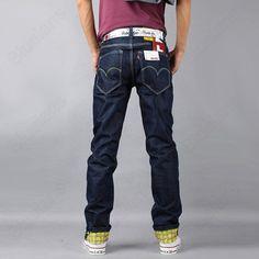 Discount China china wholesale Unique Designer Trouser Legs Mens Casual Classic Slim Straight Denim Jeans Size W28-W38 [31349] - US$24.36 : DealsChic