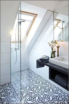 Attic Storage Top Loft Conversion Ideas That Will Transform Your Attic - Shower Room in Your Attic W Attic Shower, Small Attic Bathroom, Loft Bathroom, Bathroom Interior, Bathroom Ideas, Bathroom Remodeling, Bathroom Designs, Bathroom Mirrors, Shower Rooms