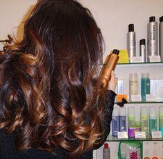 ✦⊱ɛʂɬཞɛƖƖą⊰✦ Hairstyles Haircuts, Cool Hairstyles, Shades Of Brunette, Brunette Highlights, Ombre Hair, Gorgeous Hair, Hair Inspiration, Hair Cuts, Hair Color