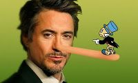 """Headline: """"What Do Robert Downey Jr., Mini-Me and Pinocchio Have in Common?"""" (Saturday, July 20, 2013) Image credit: Fan made ♛ Once Upon A Blog... fairy tale news ♛"""