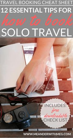 Booking your first solo trip | How to book your first solo trip | Travel planning | Travel advice | Travel organisation | Travel hacks | Solo travel | Solo traveller tips | First time backpacking | Backpacker | Round the world | How to plan a holiday | Travel planning check list | Travel check list | Booking check list