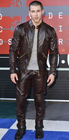 2015 Video Music Awards Red Carpet - Nick Jonas from InStyle.com