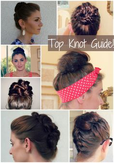 This site has like literally  more than hundreds of cute easy stylish hairstyles for any days! You'll never regret pinning this! Not just buns but, braids, ponytails, tutorials for every kind of hairstyle! I learn a BUNCH of hairstyles here! <3 this!!!
