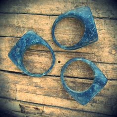 Limited Edition Ring Variation - Iris Industries on Kickstarter!  Made from recycled denim