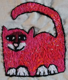 https://flic.kr/p/P9HELS   Pink Cat embroidery
