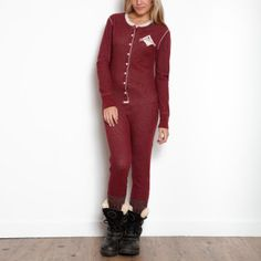 Roots - Beaver Canoe Longjohn - perfect for layering on cold days - or for lounging by the fire! #CDNGetaway