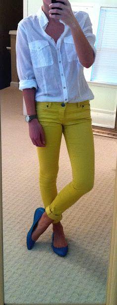 mustard skinnies