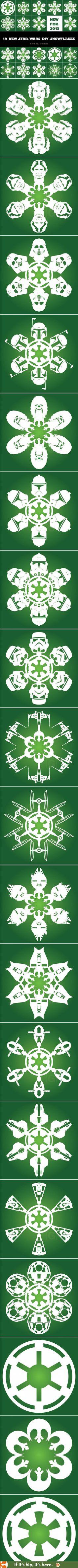 19 Awesome Star Wars DIY Snowflakes! www.ifitshipitshe...