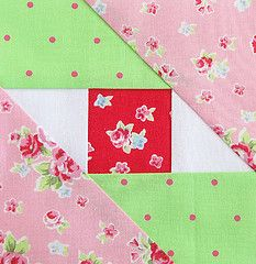 quilt block.  Love the fabrics.  Love the colors.